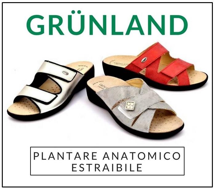 Ciabatte estive Grunland plantare anatomico estraibile