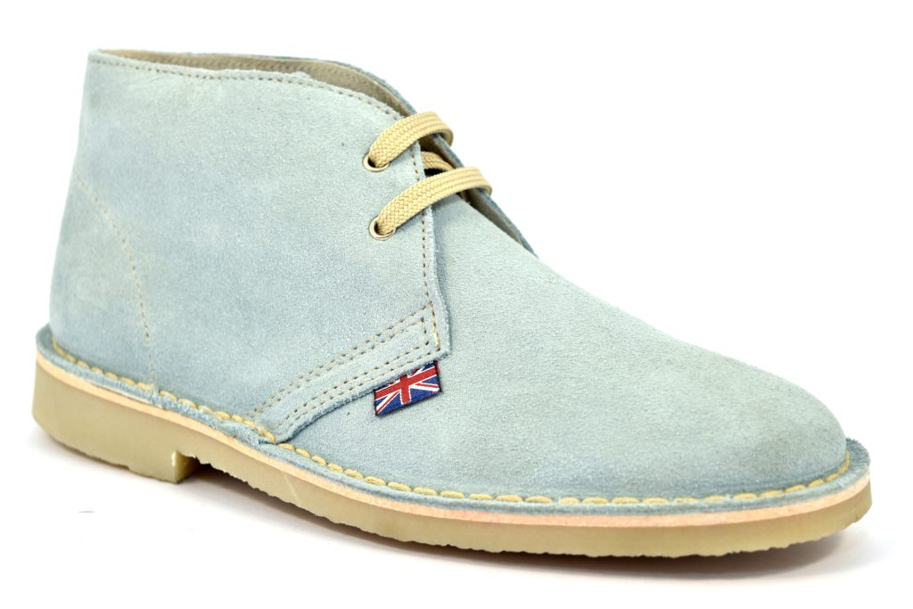 SAFARI NATURAL 1887 SERRAJE CELESTE clark modello desert boot donna
