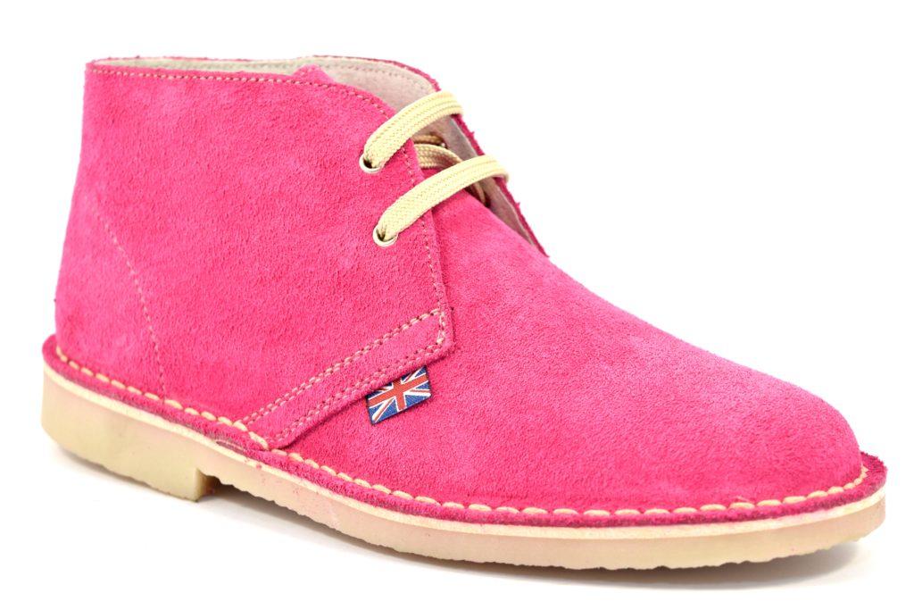 SAFARI NATURAL 1887 SERRAJE MAGENTA clarks desert boot fuxia scarpe, polacchine modello donna