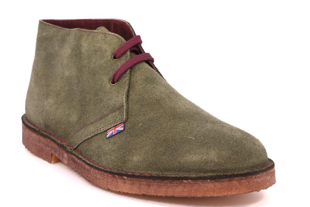 SAFARI NATURAL 1887 VERDE Scarpe polacchine uome modello desert boot