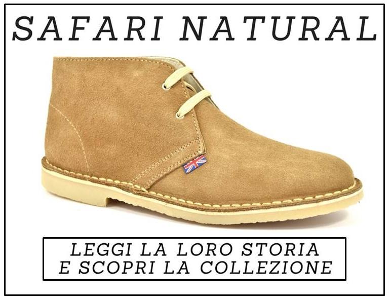 Safari Natural Scarpe Uomo Donna Modello Clarks Polacchine