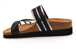 BIO ALPES 7070 NERO scarpe ciabatte donna estive plantare sughero zeppa