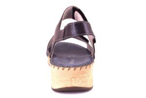 GRUNLAND PALO SA1730 80 BLU scarpe sandali donna sottopiede imbottito vera pelle sportivi strappo