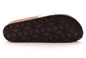 GRUNLAND SARA CB1580 70 BIANCO scarpe ciabatte donna estive plantare sottopiede sughero fibbie borchie