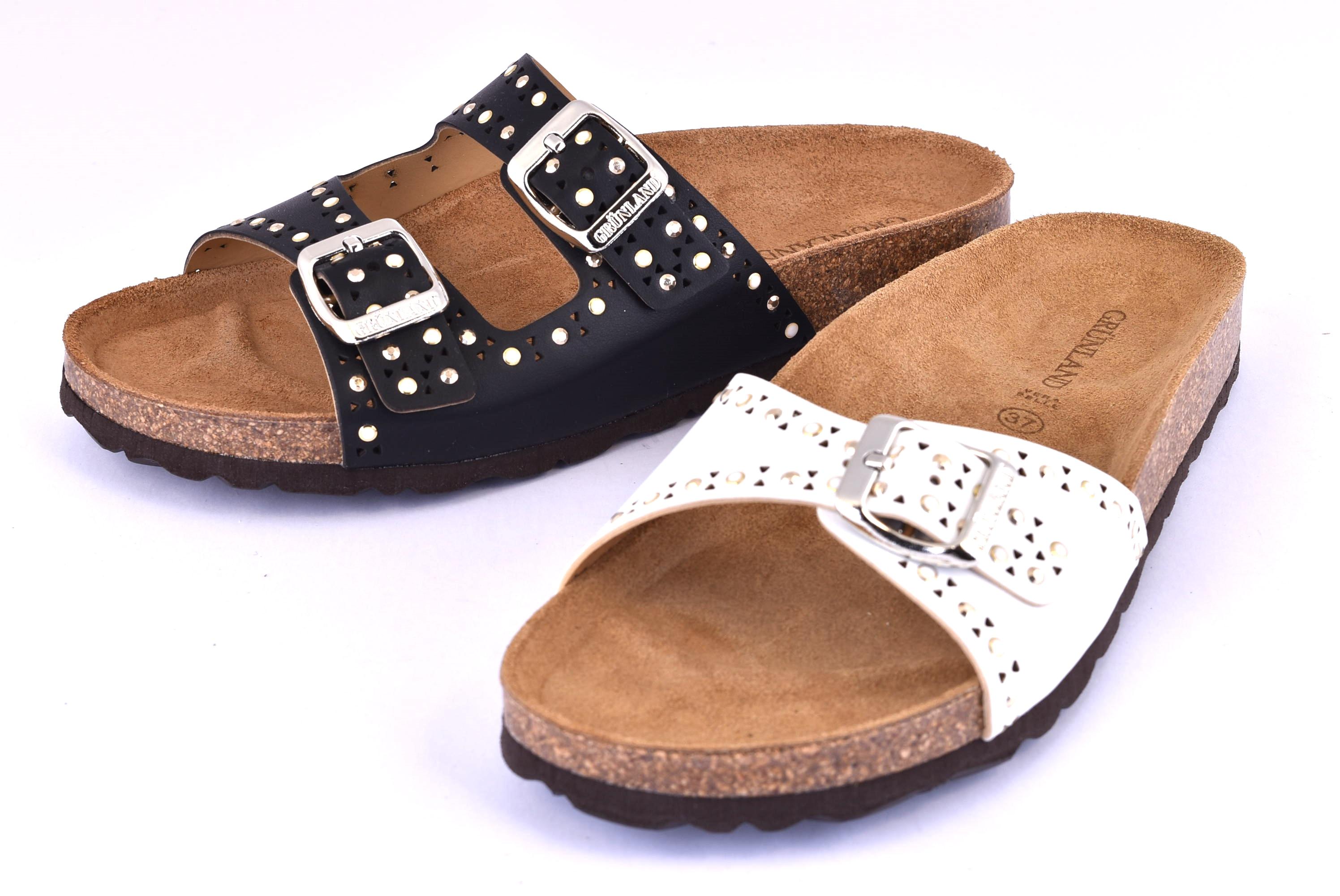 Abbigliamento e accessori Grunland Donna CB0029-70 Ciabatte Primavera/Estate Vernice Pantofole