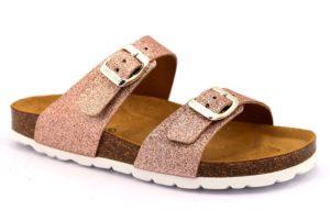 GRUNLAND SARA CB1654 40 CIPRIA rosa scarpe ciabatte donna estive plantare sottopiede sughero fibbie glitter
