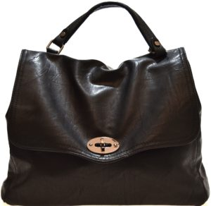 HAND BAG 2420 BLACK Nero Borsa Shopping Bauletto Tracolla modello Postino