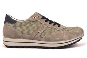 IGIeCO 1121411 GRIGIO scarpe sneakers uomo primavera estate Vera Pelle camoscio Igi&Co