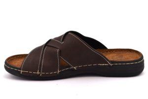 ARIZONA PATRIZIA 634 T MORO marrone scarpe ciabatte pantofole uomo casa camera estive incrociate pelle