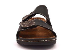 ARIZONA PATRIZIA 637 NERO scarpe ciabatte pantofole uomo casa camera estive strappi pelle