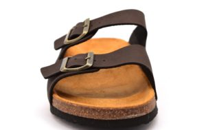 ARIZONA PATRIZIA 9662U T MORO marrone scarpe ciabatte pantofole uomo casa camera estive fibbie sottopiede sughero
