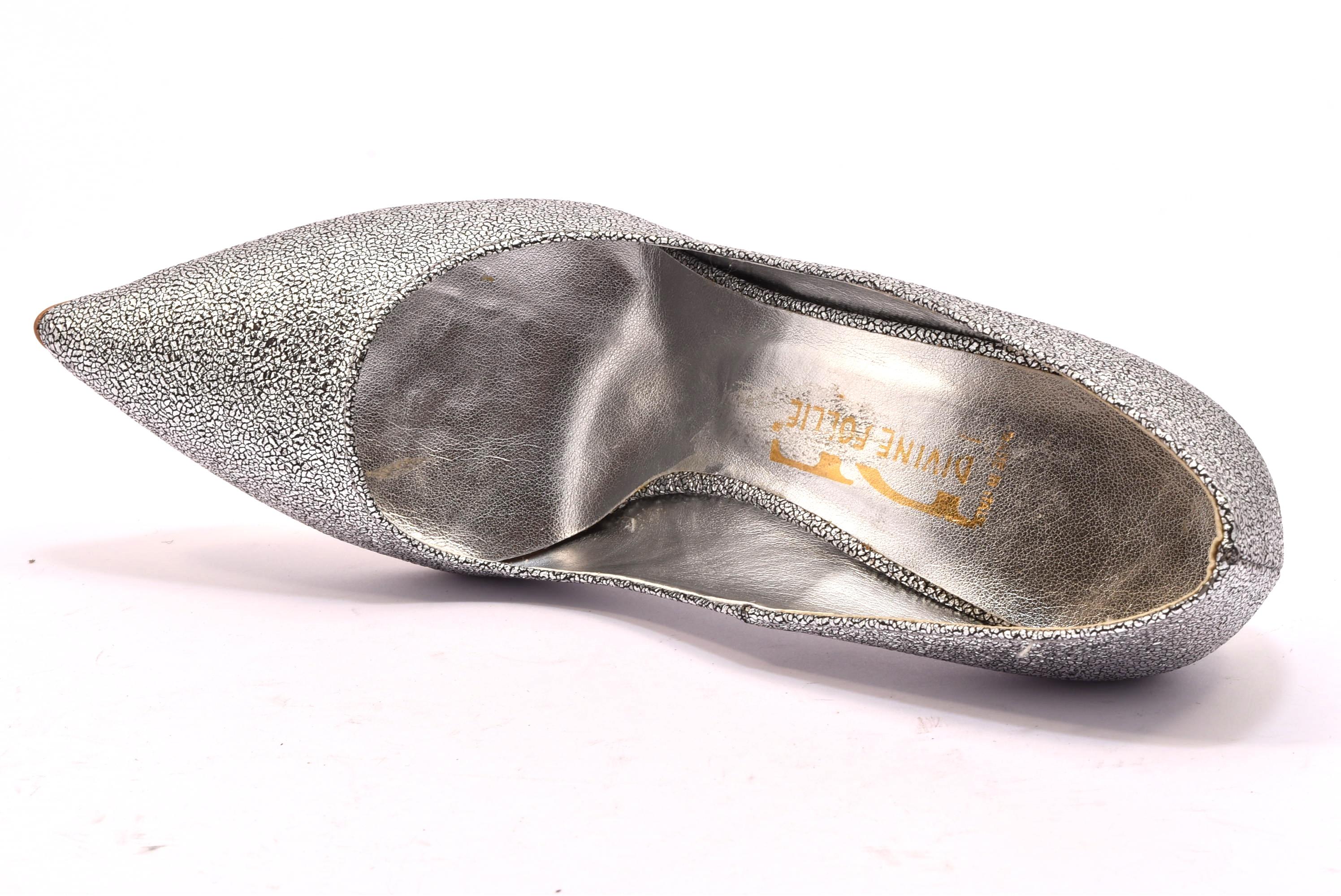 ... DIVINE FOLLIE 270 ARGENTO scarpe tacchi punta sfilata décolleté donna  glitter estiva ... 0da15fc1359