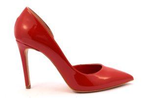 DIVINE FOLLIE 771 VERNICE ROSSO scarpe tacchi punta sfilata décolleté donna estiva stiletto