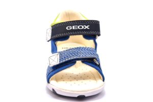 GEOX B82L8B 01054 C4227 ELBA BLU royal navy scarpe sandali bambino tallone chiuso strappi