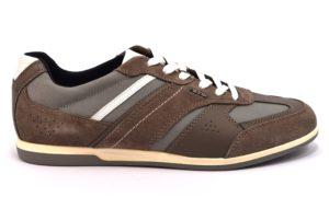 GEOX U824GA 02211 C6107 RENAN FANGO taupe stone marrone scarpe sneakers uomo primavera estate vera pelle camoscio