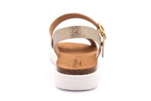 GRUNLAND COOL SB0280 70 BIANCO scarpe sandali bambina plantare sughero fibbia borchie perle eleganti