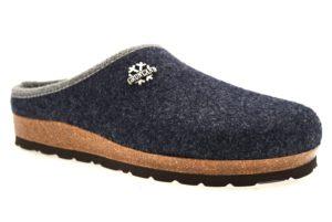 GRUNLAND SARA CB0169 11 BLU ciabatte pantofole tirolesi in lana cotta invernali calde comode ciabatta pantofola tirolese in feltro per la casa e camera merinos donna