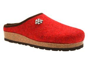 GRUNLAND SARA CB0169 11 ROSSO ciabatte pantofole tirolesi in lana cotta invernali calde comode ciabatta pantofola tirolese in feltro per la casa e camera merinos donna