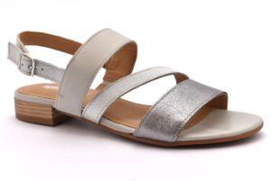 IGI&CO 1179133 NUVOLA argento scarpe sandali bassi donna eleganti