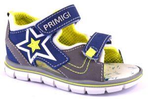 PRIMIGI 1363211 BLUET GRIGIO blu scarpe sandali bambino tallone chiuso strappi