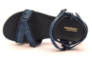 SKECHERS 15315 NVW RADIANT BLU scarpe sandali donna sportivi strappo