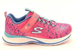 SKECHERS 81390L NPMT FUCSIA ROSA cosmic cutie scarpe sneakers bambina estive strappo stelle