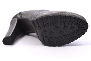 BOTTEGA LOTTI 0834 PIOMBO argento scarpe tronchetto donna décolleté tacco alto plateau autunno inverno