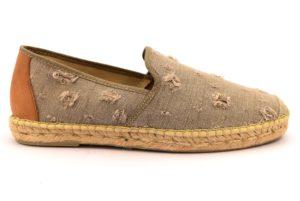 DIVINE FOLLIE 52 2815 72 TAUPE beige scarpe espadrillas sneakers uomo primavera estate slipon corda tessuto tela