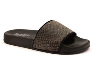 DIVINE FOLLIE LS ZD C02 NERO scarpe ciabatte sandali donna estive brillantini