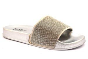 DIVINE FOLLIE LS ZD C02 SILVER argento scarpe ciabatte sandali donna estive brillantini