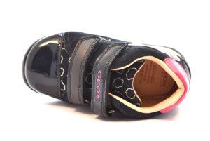 GEOX B740AC 022HH C0673 EACH BLU navy silver scarpe scarponcino polacco bambina invernali strappi nuvola vera pelle