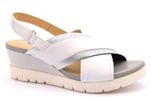 GEOX D828AD 00085 C1000 MARYKARMEN BIANCO scarpe sandali donna sportivi zeppa