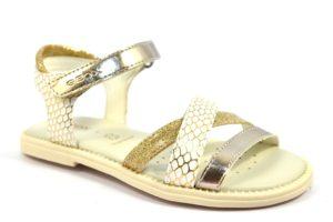 GEOX J5235D 004BN C1240 SAND KARLY BIANCO off white gold scarpe sandali bambina strappi glitter