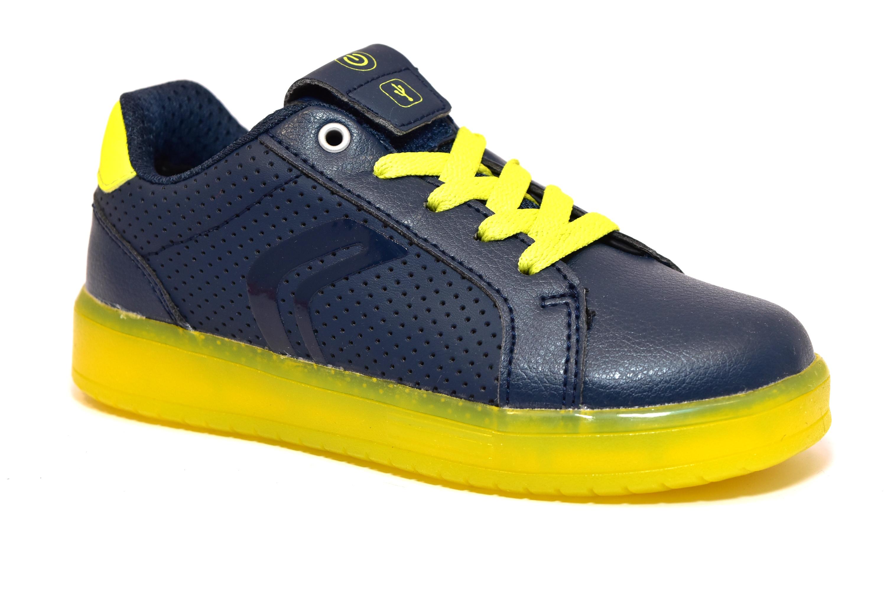 170f9bf2bff6f GEOX J745PB 0BCBU C0749 BLU scarpe sneakers luci bambino ...
