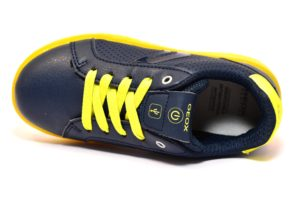 GEOX J745PB 0BCBU C0749 KOMMODOR BLU scarpe sneakers bambino luci led lacci da ginnastica invernali