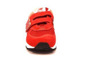 NEW BALANCE YV574RD ROSSO scarpe sneakers bambino bambina strappi camoscio tessuto ginnastica