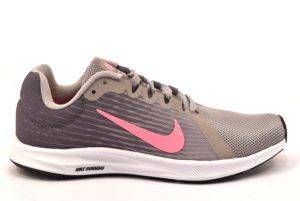 NIKE 908994 004 DOWNSHIFTER 8 GRIGIO ROSA scarpe da ginnastica donna ragazza sport running palestra nylon