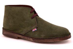 SAFARI NATURAL 1887 VERDE scarpe clark desert boot polacchine uomo stringate scarponcini pedule camoscio vera pelle