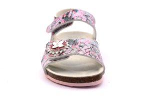 GRUNLAND DEHA SB0269 70 ROSA FANTASIA sandali bambina strappo sughero fiori glitter