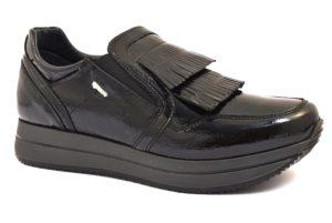 IGIeCO 2144600 NERO scarpe sneakers donna collezione autunno inverno 2018 19 invernali Slipon platform Vernice vera pelle