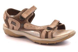 GRUNLAND OLLY SA1585 75 BEIGE TERRA scarpe sandali donna sportivi strappo