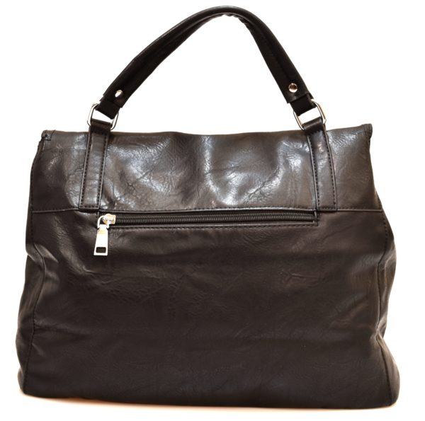 HAND BAG 2420 BLACK Nero Borsa Shopping Bauletto Tracolla modello Postino
