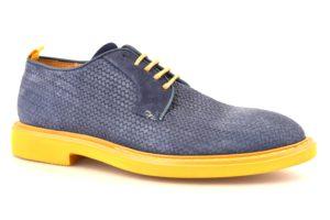 CAFE NOIR KRP632 347 RP632 INDACO blu scarpe uomo eleganti stringata primavera estate lacci vera pelle cafè noir