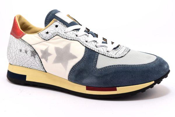 CAFE NOIR KPB924 2334 PB924 MULTIAZZURRO bianco scarpe sneakers uomo primavera estate cafè noir