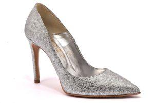 DIVINE FOLLIE 270 ARGENTO scarpe tacchi punta sfilata décolleté donna glitter estiva