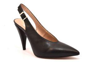 DIVINE FOLLIE 7019 NERO scarpe modello chanel tacchi punta sfilata décolleté donna estiva