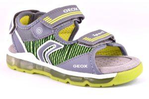 GEOX J820QA 014BU C0666 ANDROID GRIGIO VERDE grey lime scarpe sandali bambino strappi