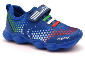GEOX J824BC 014CE C0432 MUNFREY BLU royal white scarpe sneakers bambino estive strappi