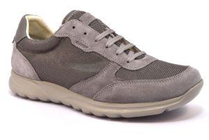 GEOX U820HC 02214 C9007 DAMIAN GRIGIO stone scarpe sneakers uomo primavera estate vera pelle camoscio