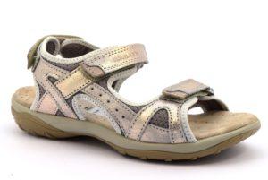 GRUNLAND OLLY SA1757 75 PLATINO TERRA beige scarpe sandali donna sportivi strappo camoscio vera pelle